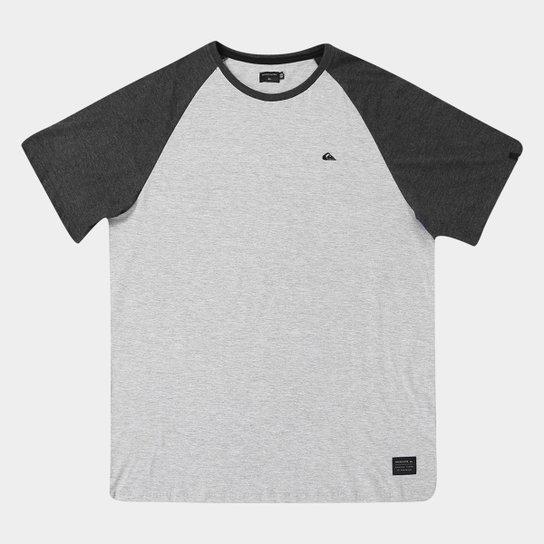Camiseta Plus Size Quiksilver Especial Raglan Essential Masculina - Mescla 62238fd7ef