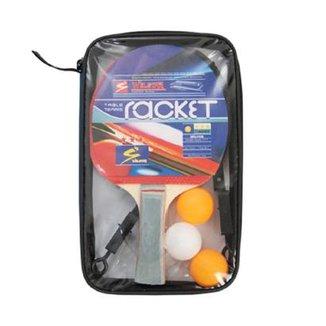 ae7cab1cf Kit Tênis de Mesa (Ping Pong) 2 Raquetes