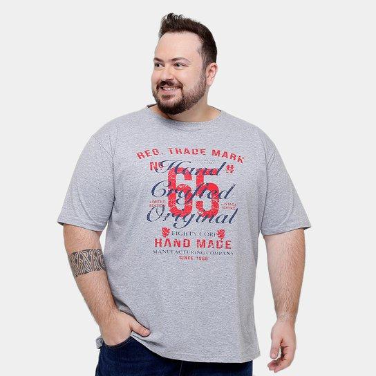 d39fe559b9 Camiseta Eagle Brasil 65 Original Plus Size Masculina - Mescla