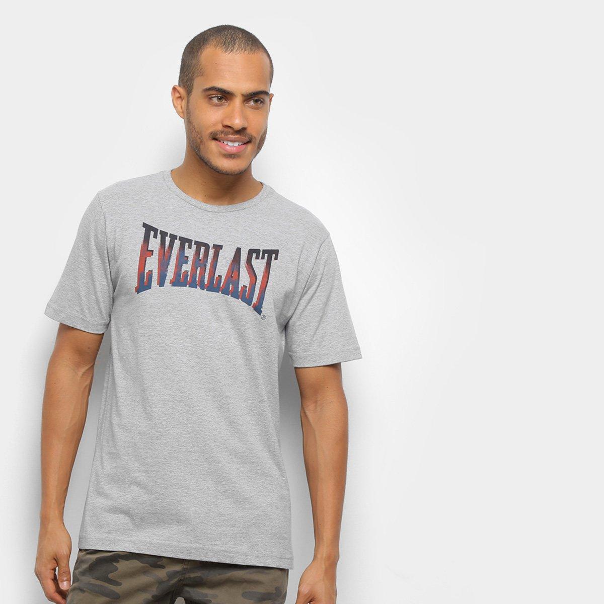 Camiseta Everlast Big Logo Gradiente Masculina