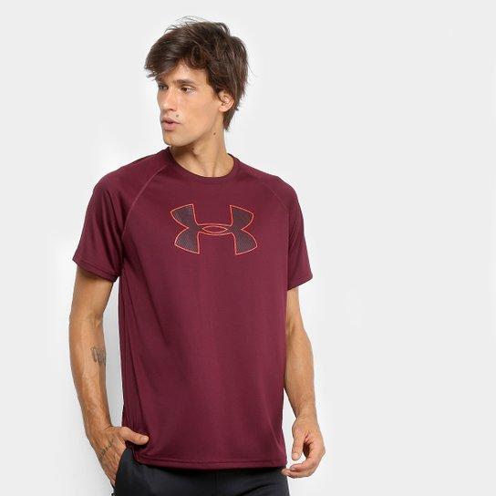 e0461aa5ad1 Camiseta Under Armour Big Logo Masculina - Bordô - Compre Agora ...
