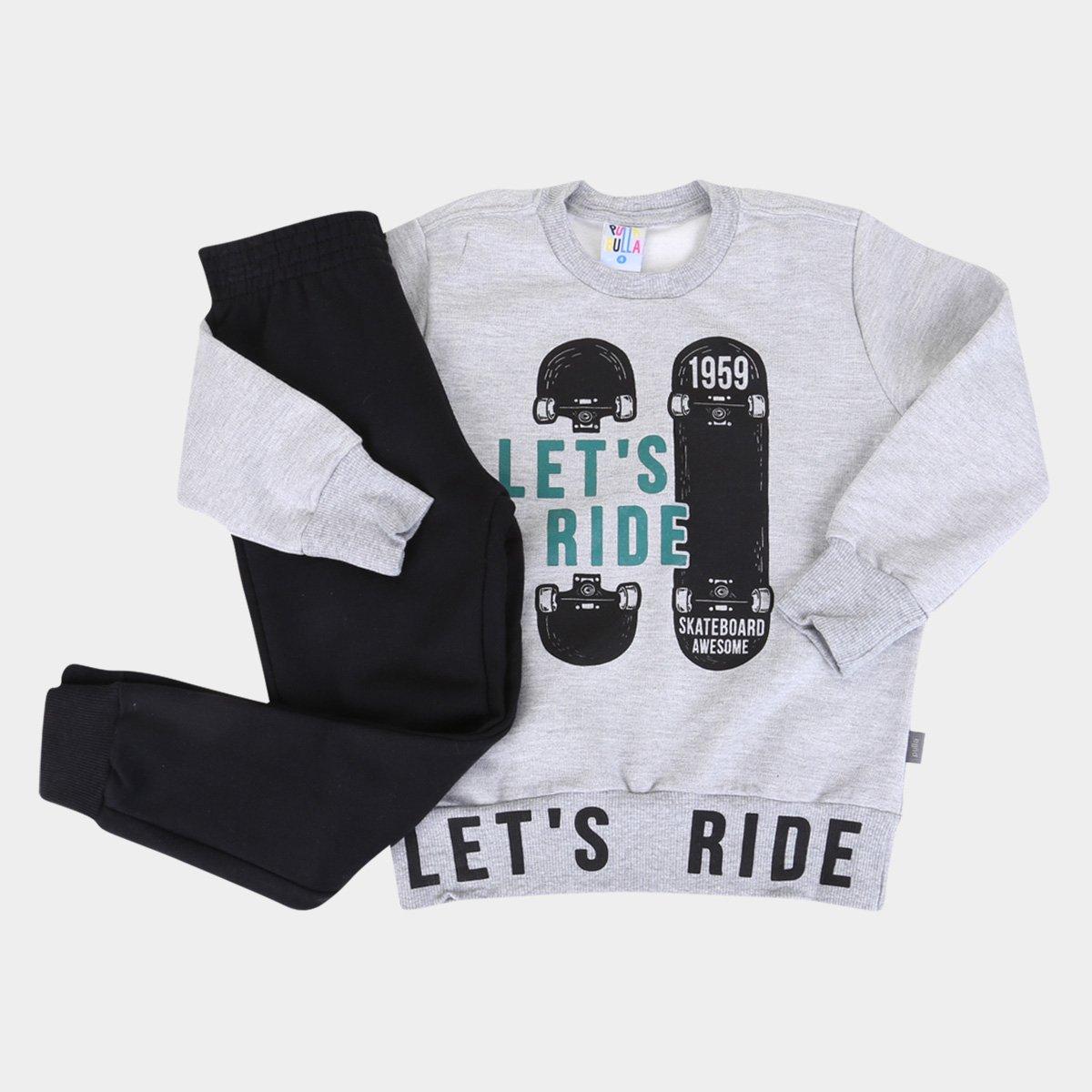 Conjunto Infantil Pulla Bulla Skate Masculino