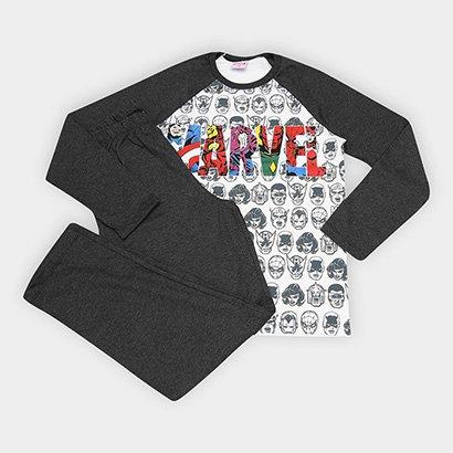 Pijama Infantil Evanilda Avengers Malha Longo Tal Filho