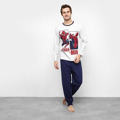 Pijama Longo Evanilda Spider Man Masculino