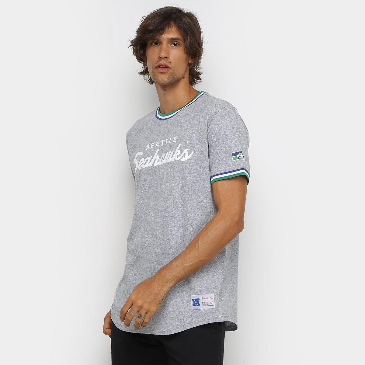 Camiseta NFL Seattle Seahawks Mitchell & Ness Especial Masculina