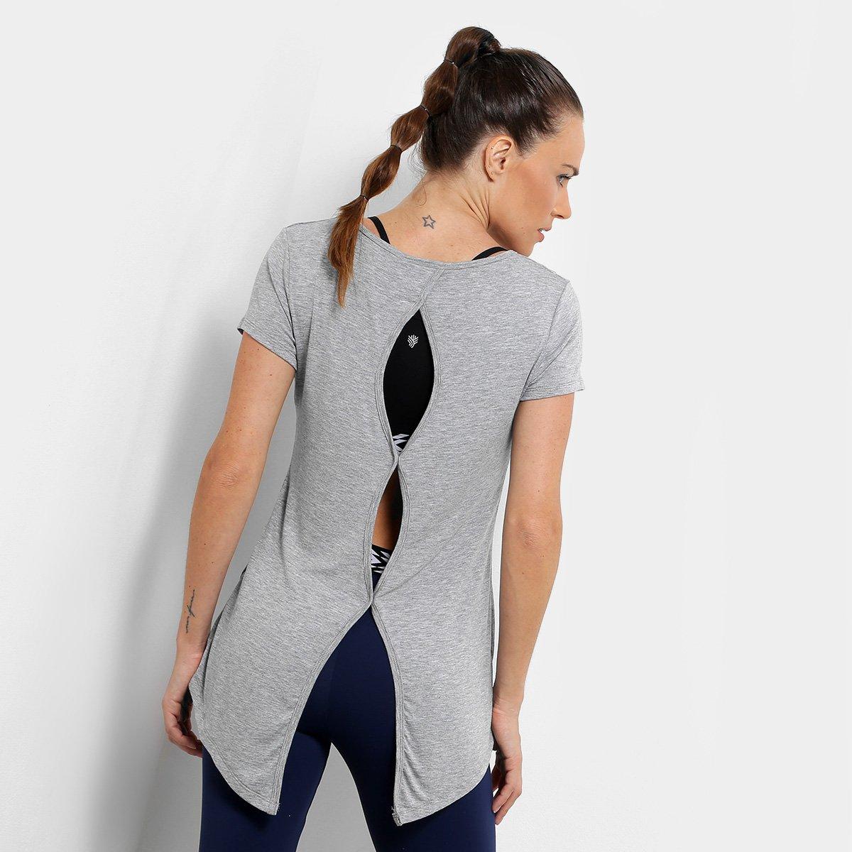 Camiseta Gonew Wrk Out Abertura Costas Feminina - 1