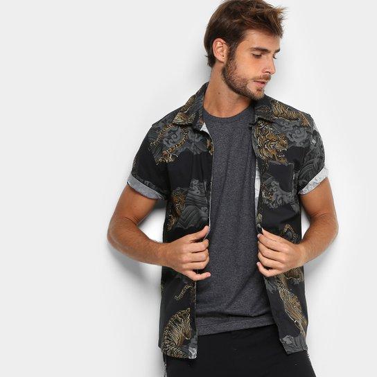 Camisa Okdok Estampada Masculina - Colorido - Compre Agora   Netshoes f2e57927d5