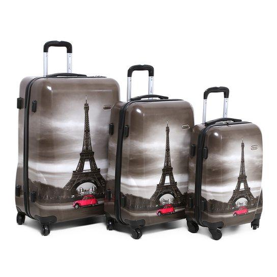 d37333acb1d6b Kit Mala de Viagem Swiss Move Torre Eiffel Masculina - Compre Agora ...