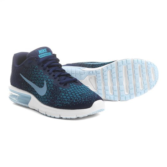 d7c420f289 Tênis Nike Air Max Sequent 2 Masculino - Marinho e Azul - Compre ...