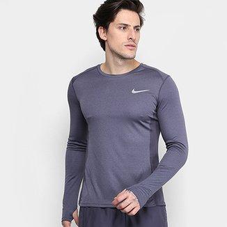 4771c03475 Camiseta Nike Dri-Fit Miler Manga Longa Masculina