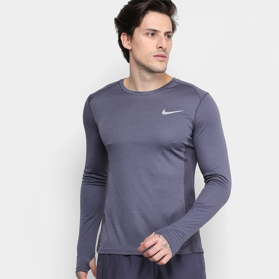 90c4010bd Camiseta Nike Dri-Fit Miler Manga Longa Masculina - Compre Agora ...