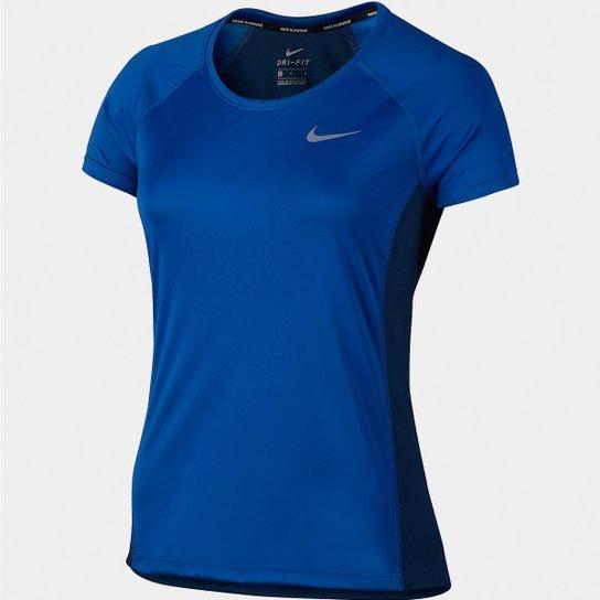 54cb0a8de2 Camiseta Nike Dri-Fit Miler Top Crew Feminina - Compre Agora