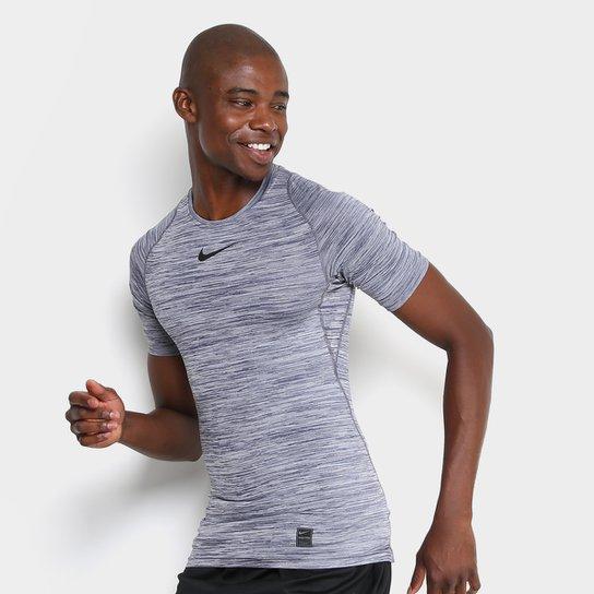 c69f6030f5135 Camiseta Compressão Nike Pro Masculina - Mescla - Compre Agora ...