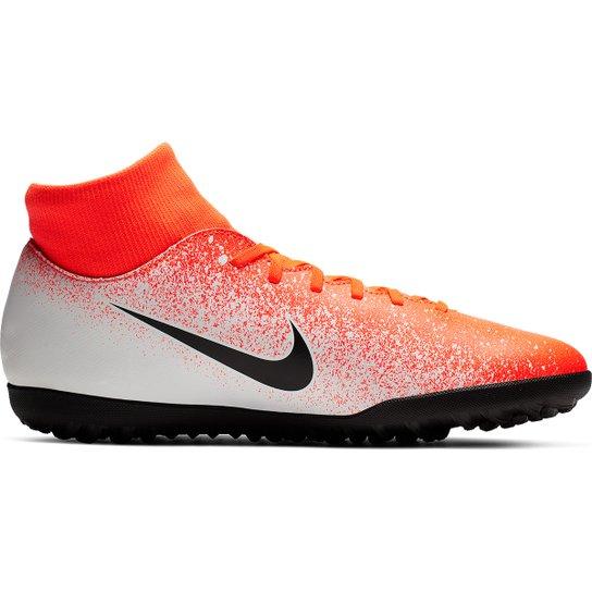 98f058af029e0 Chuteira Society Nike Mercurial Superfly 6 Club - Laranja e Branco ...