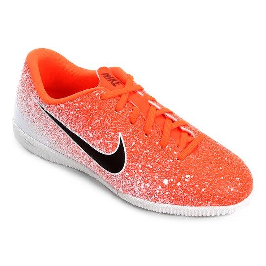 b631ff5e24 Chuteira Futsal Infantil Nike Mercurial Vapor 12 Academy GS IC -  Laranja+Branco