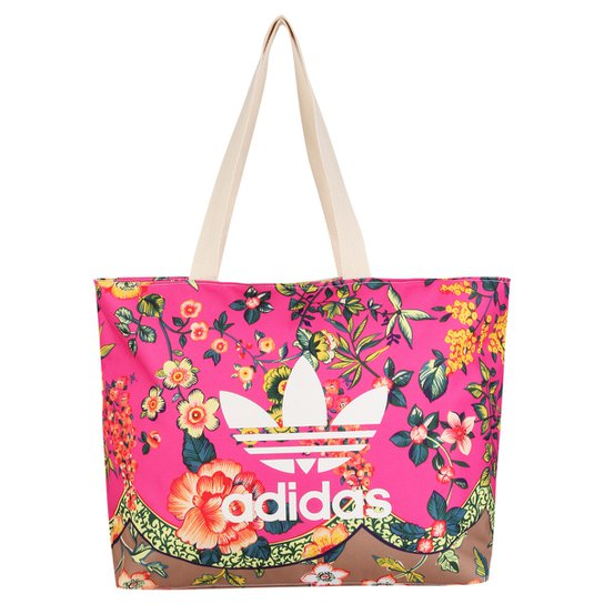 ff175d09e Bolsa Adidas Originals Shopper Jardineto Farm - Pink+Branco