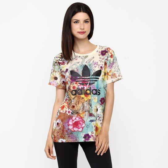 5e47e1fa5 Camiseta Adidas Bf Trefoil - Colorido