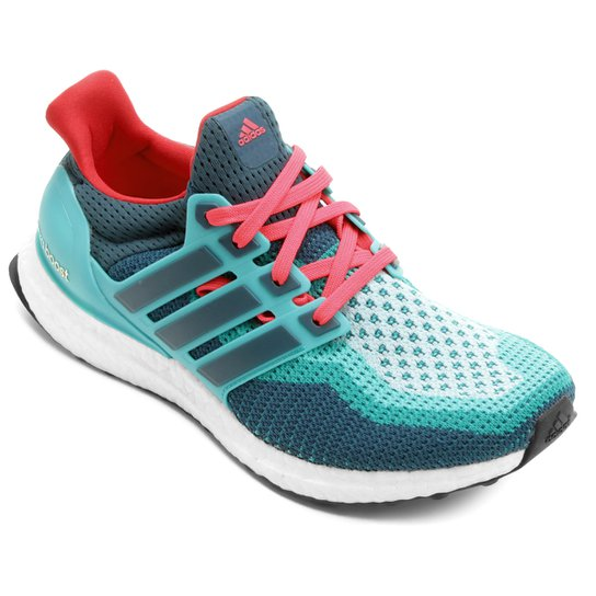e2df1559ffbff Tênis Adidas Ultra Boost Masculino - Azul Petróleo+Vermelho ...