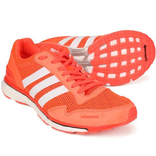 7f860706db Tênis Adidas Adios Masculino - Laranja+Branco