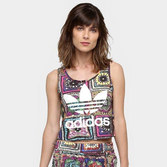53a4e1b9401 Camiseta Regata Adidas Originals Crochita Cropped - Compre Agora ...