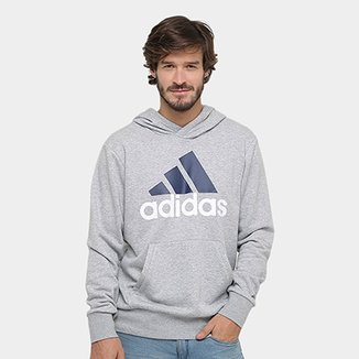 ecbe575aa46 Moletom Adidas Essentials Linear Pullover French Terry C  Capuz