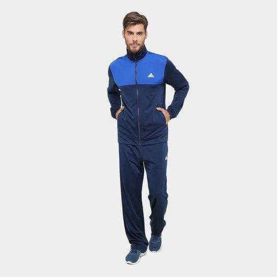 Agasalho Adidas Back 2 Basics Masculino - Marinho e Azul - Compre ... 1196e41be0a4f
