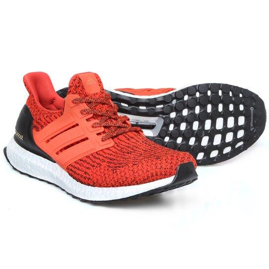 9d6070b335 Tênis Adidas Ultra Boost Masculino - Laranja+Branco
