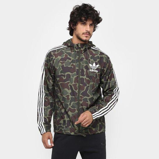 6f92b5dad68 Jaqueta Adidas Camo Wb c/ Capuz - Verde Militar