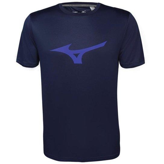 807c3d81939c9 Camiseta Mizuno Run Spark Masculina - Marinho e Azul - Compre Agora ...