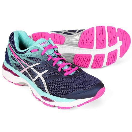 df30c0896f0 Tênis Asics Gel Cumulus 18 Feminino - Marinho e Pink - Compre Agora ...
