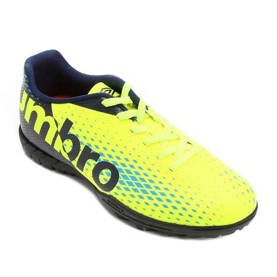 a519299069ad1 Chuteira Society Umbro Innverse - Amarelo e Azul