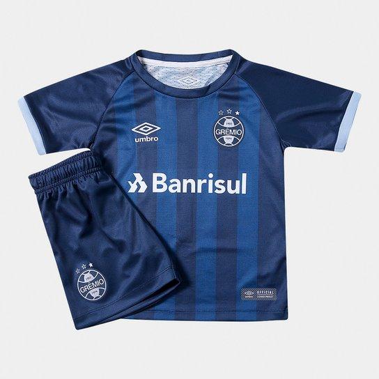 da0547503 Kit Infantil Grêmio III 17 18 s n° - Torcedor Umbro - Marinho e Azul ...