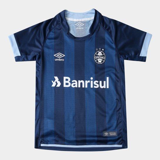 616a160e3947e Camisa Grêmio Juvenil III 17 18 n° 10 - Torcedor Umbro - Marinho e ...