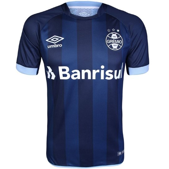 a8a7a89b1512e Camisa Umbro Masculina Grêmio III 2017 2018 Torcedor - Marinho e ...
