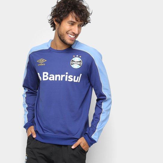 d0e7b01196 Blusa Grêmio 2019 Treino Umbro Masculina - Marinho e Azul - Compre ...