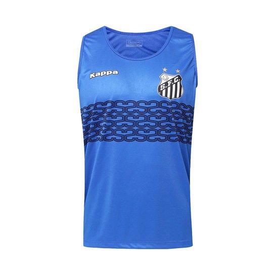 Camiseta Regata Futebol Kappa Calvet Santos 2017 - Compre Agora ... b9923ee6dbf1b