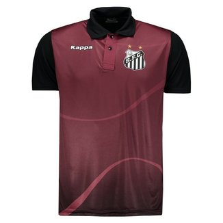 Camisa Polo Kappa Santos 2017 Zito Masculina 5a5642a3a32e5
