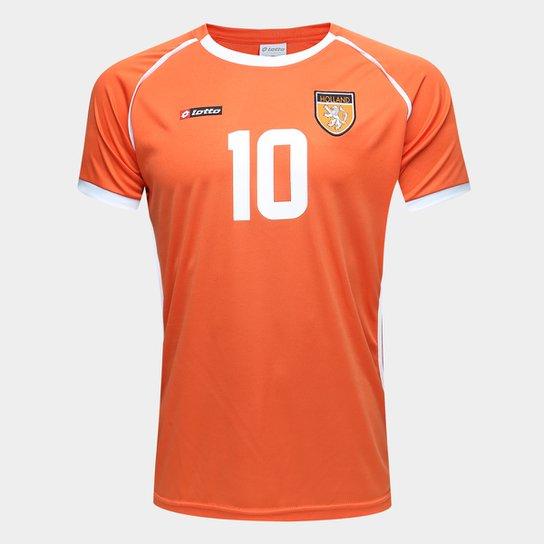 Camisa Holanda 2002 n°10 Masculina - Laranja+Branco ac890eb2a24bb