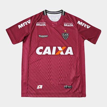 Camisa de Goleiro Atlético-MG II 2018 Infantil s/n° Torcedor Topper