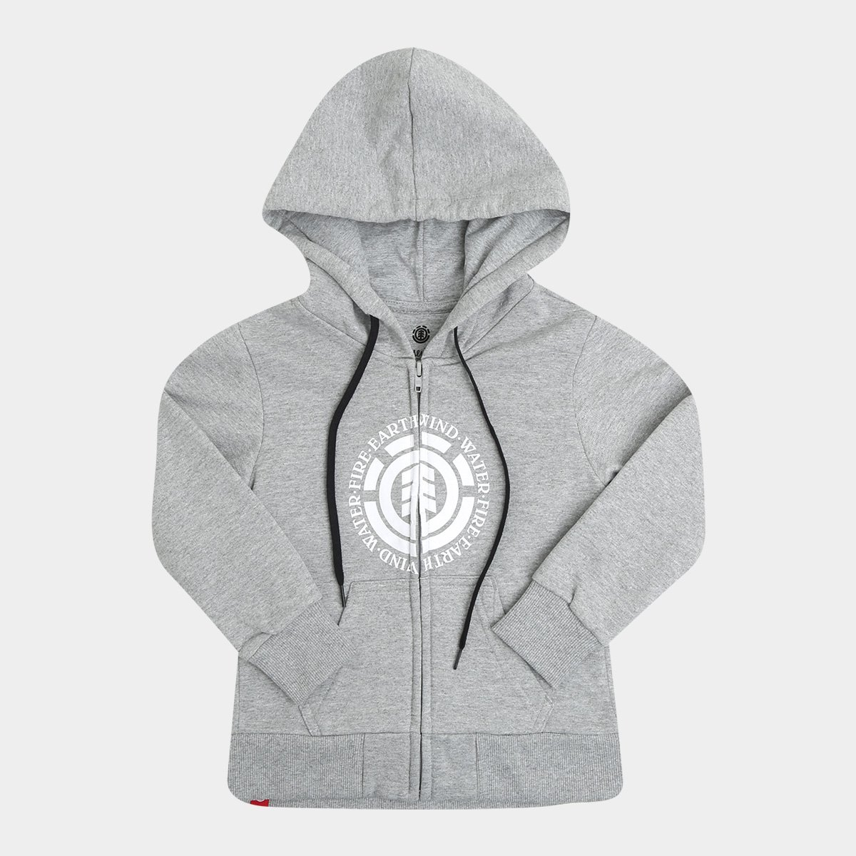 Moletom Juvenil Element  Zip Up BK Logo Masculino