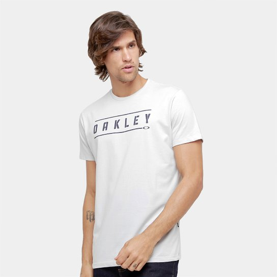 e17f700821 Camiseta Oakley Mod Stencil Tee Masculina - Cinza Claro