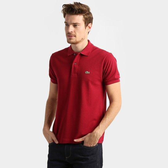 9ca2bd05ba333 Camisa Polo Lacoste Original Fit Masculina - Bordô - Compre Agora ...