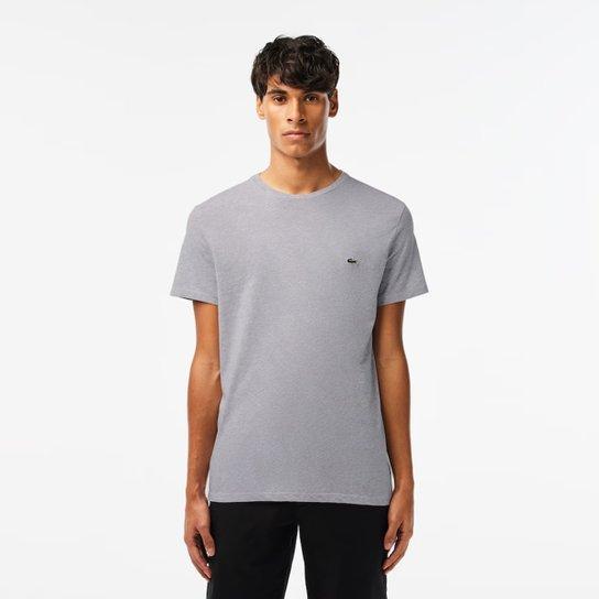 de46571ac8a72 Camiseta Lacoste Básica Jersey Masculina - Mescla - Compre Agora ...