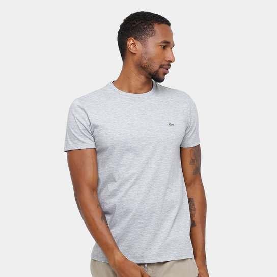 dc2f4150ff Camiseta Lacoste Básica Jersey Masculina - Mescla