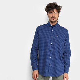 Camisa Xadrez Lacoste Vichy Masculina 29d1df6099