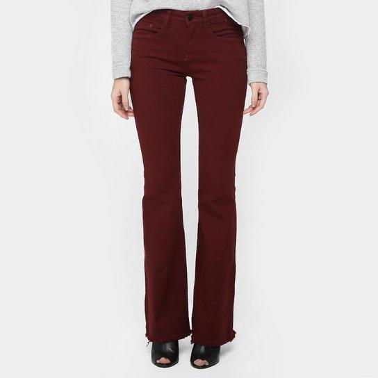 Calça Calvin Klein Flare Sarja Puídos - Compre Agora   Netshoes 096a293406