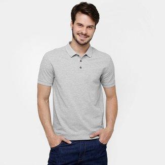 3ecfaa9d0ad Camisa Polo Calvin Klein Piquet Logo Relevo