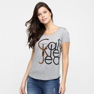 f120035c37c44 Camiseta Calvin Klein Estampa Lateral