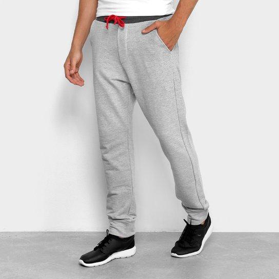Calça De Moletom Jogger Calvin Klein Contraste Masculina - Mescla ... 2af1a40b2c