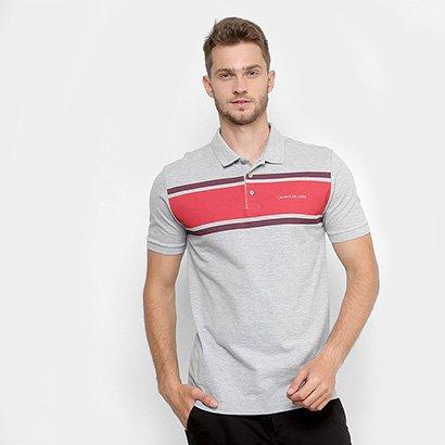 Camisa Polo Aleatory Listras Coloridas Masculina 4da9e157ea78b